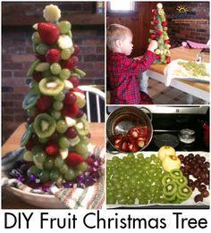 DIY Fruit Christmas Tree - Fun, healthy & festive kid-friendly recipe!