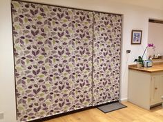 Kitchen roller blinds for bifold doors