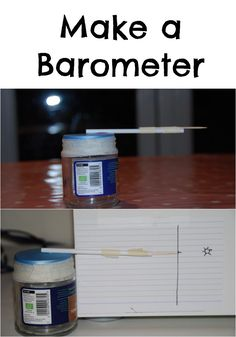 Make your own barometer #Science #Weather