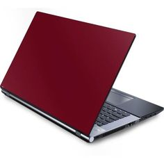 Burgundy Laptop Skins ($30) ❤ liked on Polyvore featuring accessories, tech accessories, electronics and laptop