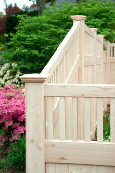A Grand Illusions Vinyl WoodBond Eastern White Cedar (W105) V3701-6 Privacy Fence with tongue and groove boards and framed Classic Victorian Picket Topper. #backyardideas #dreamyard #fence #fenceideas