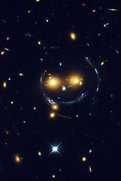 Hubble telescope captures extraterrestrial smiley face