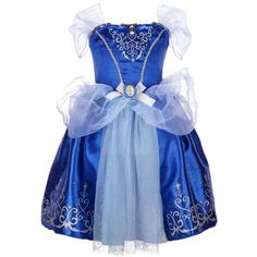 Disney Princess Cinderella Bling Ball Dress ($50) ❤ liked on Polyvore featuring baby, girls and kids costumes