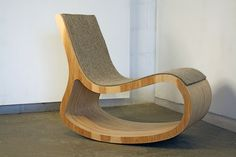 Andrew Kline Rocking Chair, 2009, industrial felt, plywood