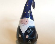 Miniature clay gnome 'Babak', for fairy gardens and seasonal displays.