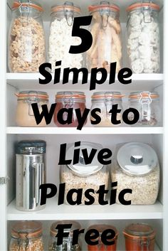 Here are 5 simple changes you can make to move you closer to living in a #plastic free home!