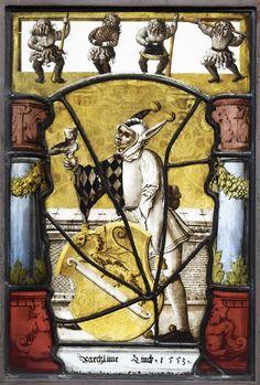 Vitrail avec les armoiries de Barthélémy Linck, v. 1553, Suisse