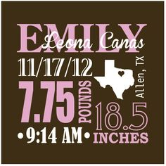 NEW DESIGN: 15''x15'' Baby Stats Wooden Sign. Customize with baby's birth date, weight, height, time born & and birthplace.