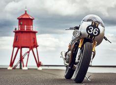 triumph barbour thruxton R motorycle; EICMA 2016