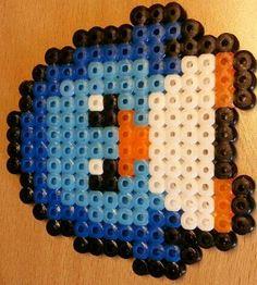 Pingüino hama beads.