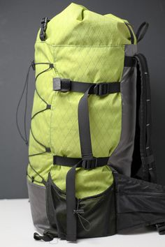 Side view of pack
