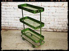 Holy Funk - Industrial Trolley Green, $175.00 (http://www.holyfunk.com.au/sold/industrial-trolley-green/)