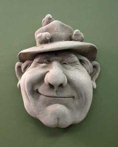 Grandpa Nature -- Carruth Studio: Waterville, OH Ceramic Mask, Ceramic Clay, Ceramic Painting, Stone Painting, Anatomy Sculpture, Ceramic Sculpture Figurative, Sculpture Head, Sculpting Tutorials, Face Jugs