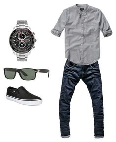 """My man"" by nurozlem on Polyvore featuring G-Star Raw, Abercrombie & Fitch, Seiko, Persol, Vans, men's fashion and menswear"