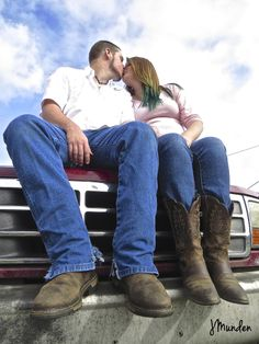 country couple photo idea