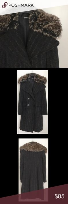 Benetton Coat • Absolutely gorgeous coat from one of the past Benetton collections • Removable faux fur collar • Size 38(IT), 2(US) • Fully lined • Material: outside (35% wool, 20% alpaca, 20% mohair, 15% nylon, 10% polyester), lining ( 52% acetate, 48% viscose) • Has a small defect: lining came a little apart inside one of the sleeves (see 4th picture); but you would have to specifically look for it to see it; otherwise in a perfect condition, worn just a few times United Colors Of Benetton…