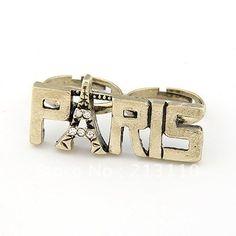 """Double Finger """"Paris"""" Ring"""