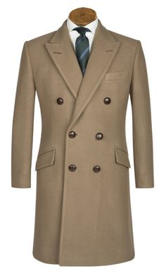 Huntsman British warm overcoat, modeled on First World War officer great coats, cut in a 32oz melton cloth.