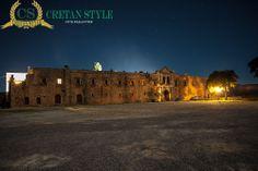 Night time at the monastery Arkadi..