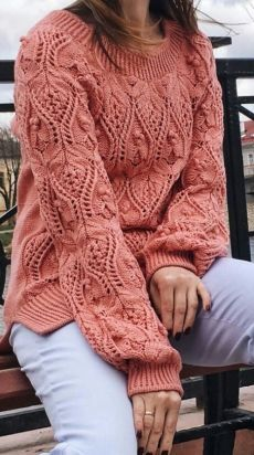 Hand Knitted Sweaters, Mohair Sweater, Knitted Shawls, Crochet Baby Poncho, Knit Crochet, Knitting Videos, Hand Knitting, Knitwear Fashion, Sweater Design