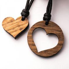 Herz Pärchen rund - 3in1_diy_schmuck Holzschmuck aus Naturholz / Anhänger Dremel, Wood Carvings, Laser Cutting, Washer Necklace, Jewerly, Valentines Day, Resin, Jewelry Design, Craft Ideas