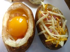Home Cooking In Montana: Egg Stuffed Baked Potato...