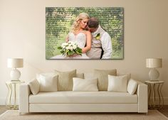 1st Anniversary Gift - A Personalized Word Art Canvas – Canvas Vows
