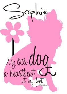 Wall Decor Customized Design It Yourself Dog Art Print. $14.00, via Etsy.