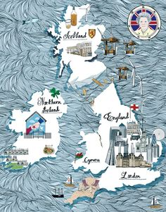 Lindsey Spinks map of the British Isles for Financial Times