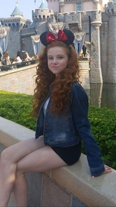 ginger girl preteen bright redhead freckles on