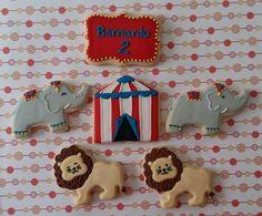 Biscoitos decorados circo by Vanilla Art Cookies