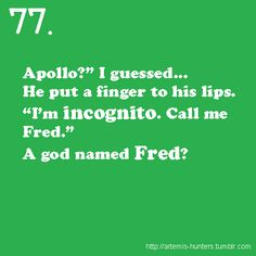 When I read this for the first time, I laughed for about an hour. Then I reread it and laughed for about an hour. My mom thinks I'm a freak.