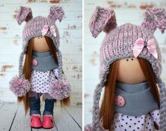 Adolescente tilda muñeca arte muñeca colores por AnnKirillartPlace