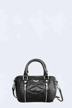 sac pour femme xs sunny matelasse noir Zadig&Voltaire