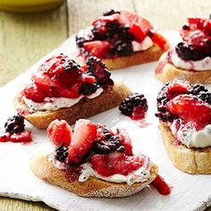 Fresh Berry Bruschetta From Better Homes and Gardens, ideas and improvement projects for your home and garden plus recipes and entertaining ideas.
