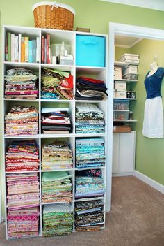 What I would love my craft room to look like some day- Fabric Storage