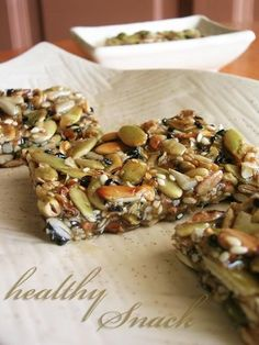 Healthy Snack Bars - I think I'll make them this weekend.