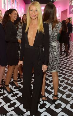 94a4b1da517 Gwyneth Paltrow bares cleavage in slashed to the navel jumpsuit