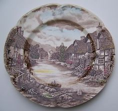 Johnson Bros Olde English Countryside Dinner Plate Made in England Vintage