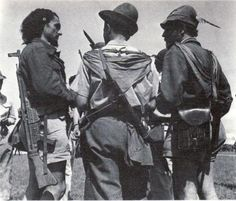 Italian Partigiani in Alpini hats