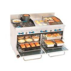 Comstock Castle Gas 4 Burner Restaurant Range W/ 2 Ovens Mini Kitchen, Kitchen Nook, Kitchen Decor, Kitchen Design, Used Restaurant Equipment, Commercial Kitchen Equipment, Cool Kitchen Gadgets, Cool Kitchens, Food Truck For Sale