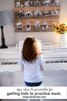 Getting kids to practice music can be hard sometimes, but these tips, ideas, and printables can help! Printable games & charts included!