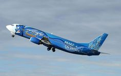 """Together with the """"Make-a-wish"""" foundation Air Alaska decorated an aircraft with Genie from the Disney movie Aladdin. Alaska Airlines supported the foundation by taking children to places they wished to travel."""