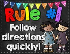 FREE!! Get your students' attention with these whole brain teaching rules posters!  If you like this product and the black and brights chalkboard theme, you might like my brand new classroom decor pack! Check it out here:  Classroom Decor-Black and Brights Chalkboard Theme