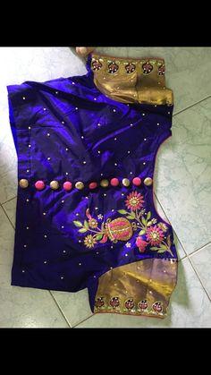 Simple Blouse Designs, Silk Saree Blouse Designs, Saree Blouse Patterns, Bridal Blouse Designs, Maggam Work Designs, Half Saree Designs, Collor, Hand Embroidery Designs, Sarees