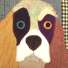 Buy the Muriel the Spaniel Cushion - from Carola van Dyke at AMARA. Patchwork Patterns, Applique Patterns, Applique Designs, Dog Cushions, Pillows, Eccentric Style, Modern Fabric, Vintage Designs, Home Accessories