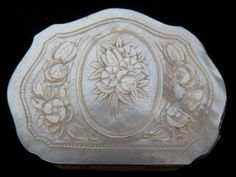 Carved Mother of Pearl Change Purse