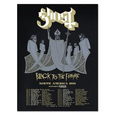 BLACK TO THE FUTURE NORTH AMERICAN 2015 TOUR LITHOGRAPH | Tour Merch | Ghost