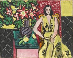Henri Matisse (French 1869-1964) Seated Woman with a Vase of Amaryllis. 1941. Oil on canvas. William S. Paley Collection.