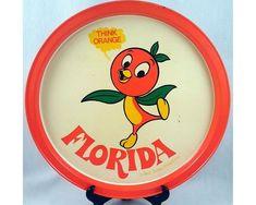 The Orange Bird - Walt Disney Productions Metal Serving Tray - Vintage Florida Souvenir - Think Orange by ShellyRe on Etsy Disney Home, Disney Fun, Disney Parks, Walt Disney, Disney Enchanted, Florida Oranges, Orange Bird, Tiki Room, Retro Advertising